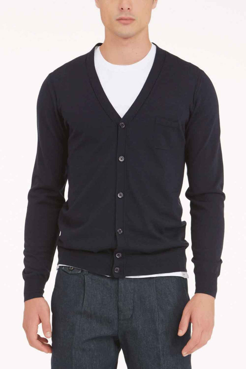 Cardigan Bottoni- PAOLO PECORA - Maglia - PAOLO PECORA  - Manida Shop Online-[variant_SKU]- [product_description]