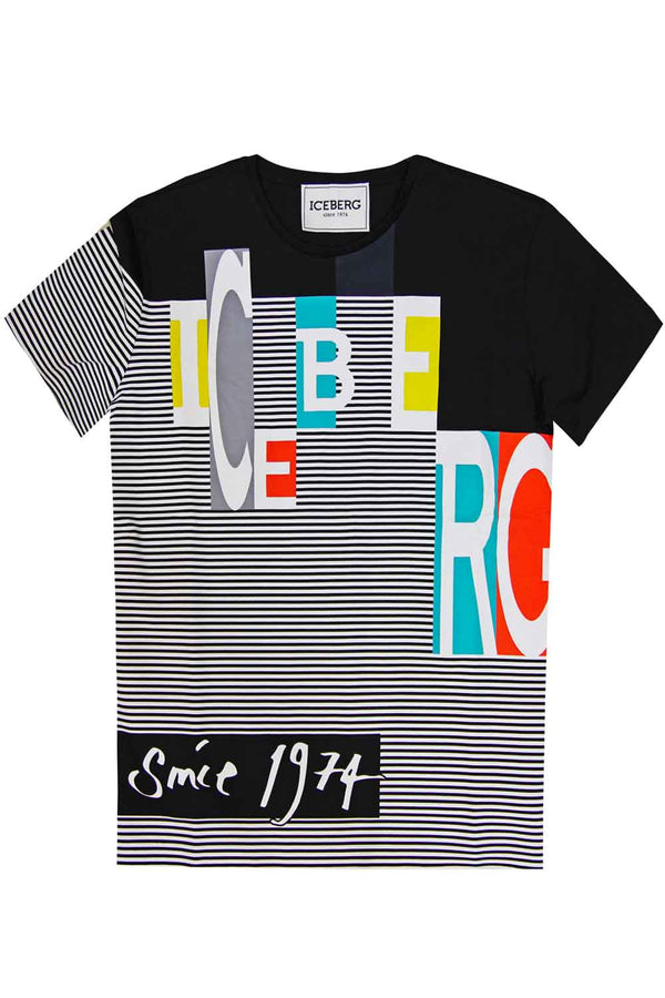 Tshirt con stampa multicolor - ICEBERG - T-shirt - ICEBERG  - Manida Shop Online-[variant_SKU]- [product_description]