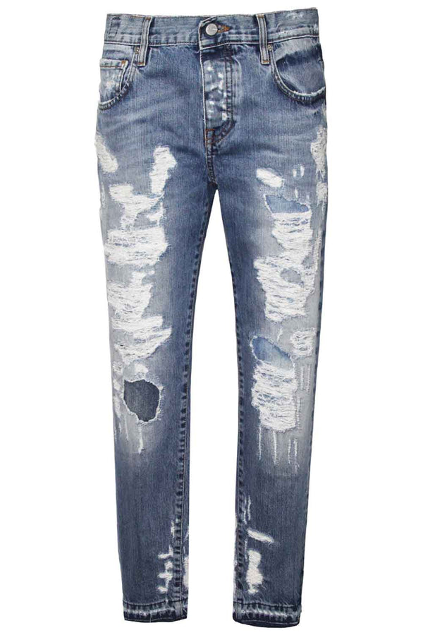 Jeans destroyed- DON THE FULLER - Pantaloni e jeans - DON THE FULLER  - Manida Shop Online-[variant_SKU]- [product_description]