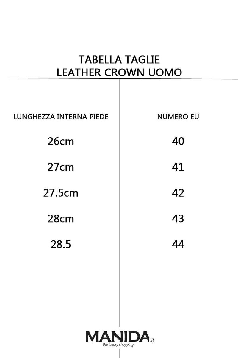 Scarpe con logo traforato - LEATHER CROWN - Scarpe - LEATHER CROWN  - Manida Shop Online-[variant_SKU]- [product_description]