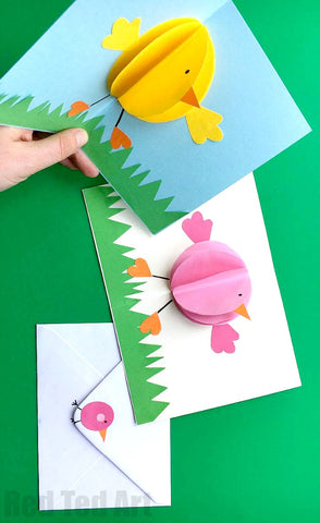 Popup chick cards
