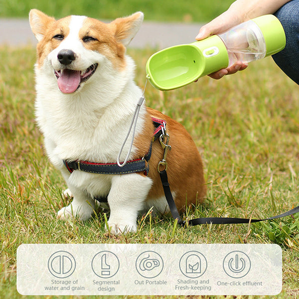 Portable Pet Water and Snack Bottle