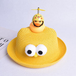 Little Yellow Duck Spin Straw Hat Sun Hat