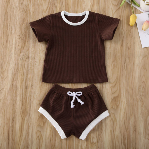 Baby Clothes Short Sleeve and Pants Set