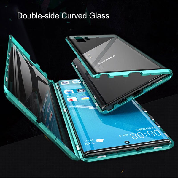 Full body Magnetic Tempered Glass Case for Samsung Galaxy