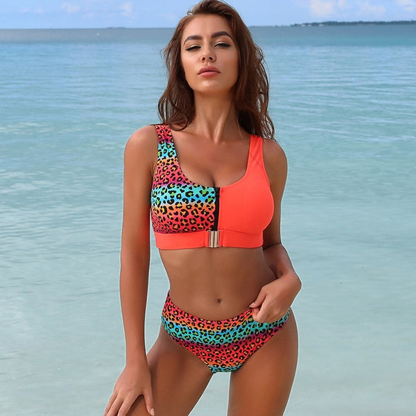 New High Waist Push Up Bikini Swimsuit