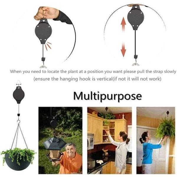 5 PCS Easy Reach Plant Pulley Set Hooks