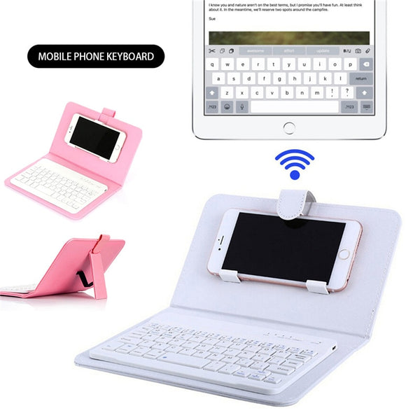 Portable Wireless Keyboard Case for iPhone and Android Phones