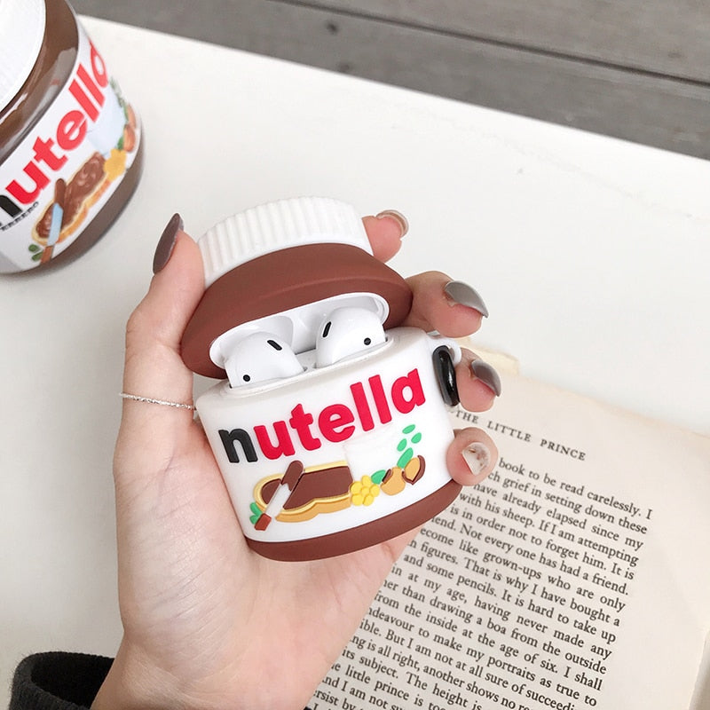Silicone Nutella Case for AirPods 1 2 AirPods pro 3