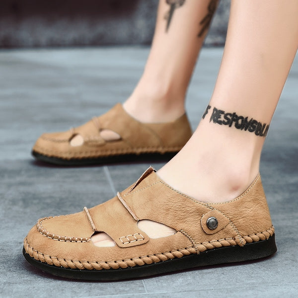 Men Handmade Leather Summer Sandals