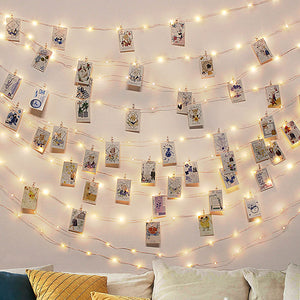 10M Photo Clip LED String Fairy Lights Christmas Decorations for Home