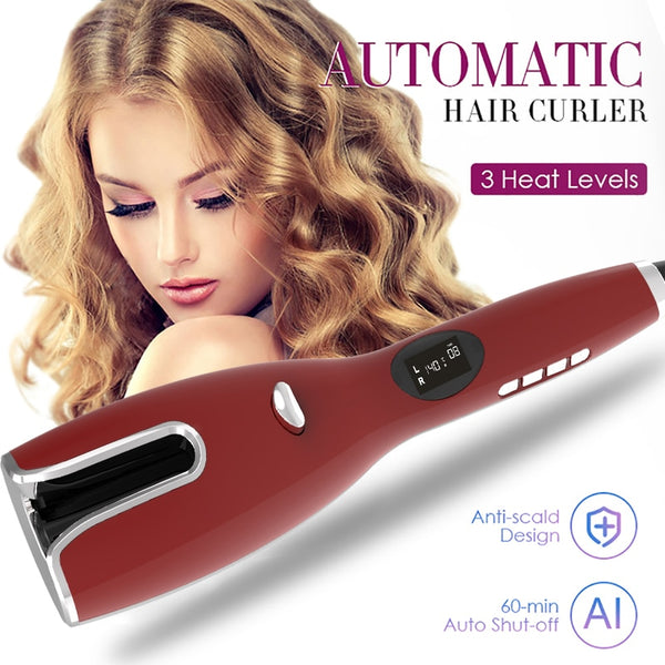 LCD Automatic Hair Curler Curling Iron Hair Wand