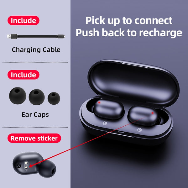 Fingerprint Touch Bluetooth Earphones Wireless Headphones
