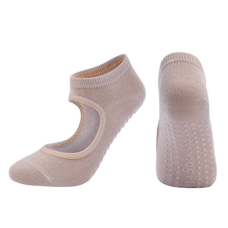 Women High Quality Pilates Socks Anti-Slip Breathable Yoga Socks