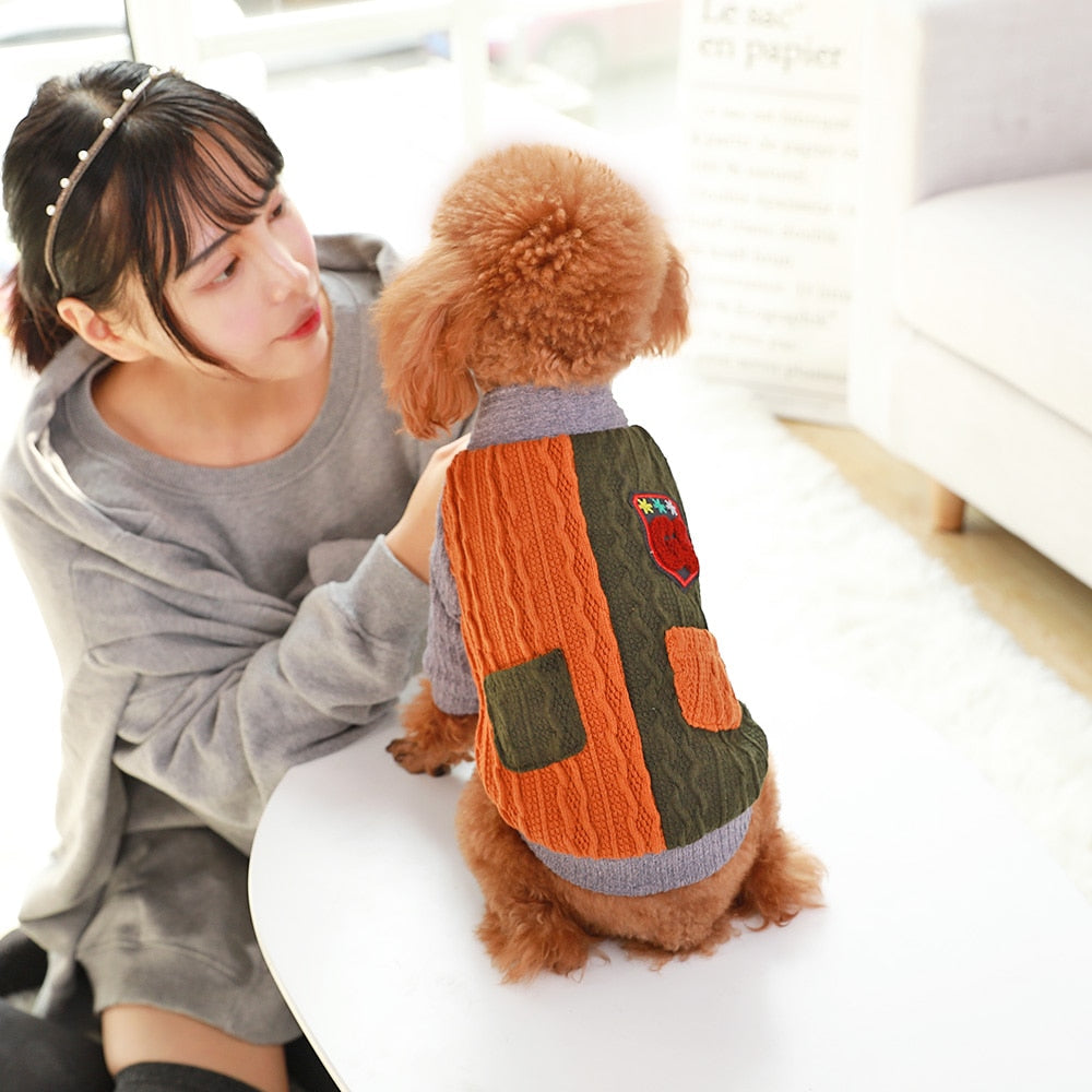 Dog Clothes Warm Sweater Dog Jumper for winter Knitwear