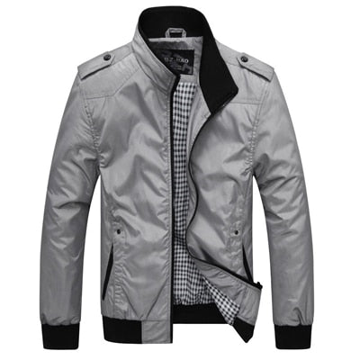 Mens Slim Spring and Autumn Casual Jacket