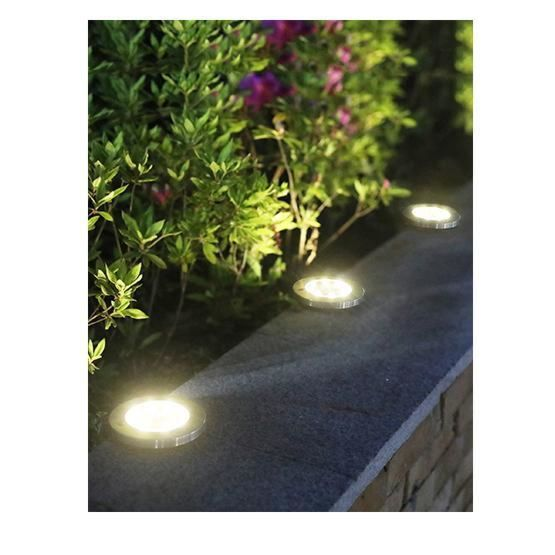 LED Solar Powered In-Ground Lights - Solar Pathway Lights