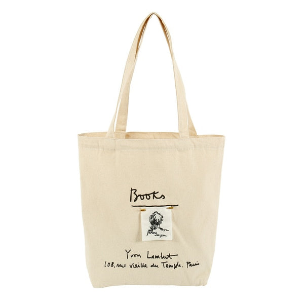 Canvas Letter Tote Bag