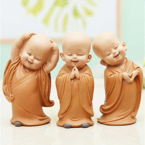 Little Happy Monk Figurine