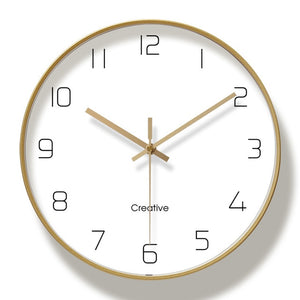 Simple Gold Lining Wall Clock