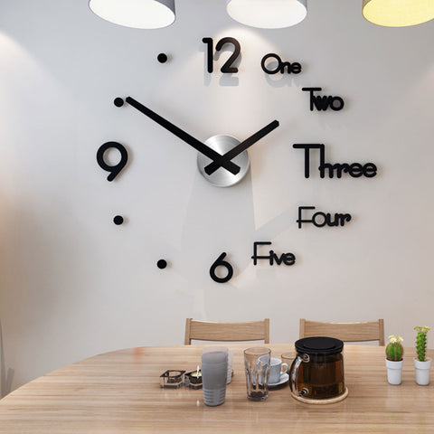DIY 3D Mirror Wall Clock