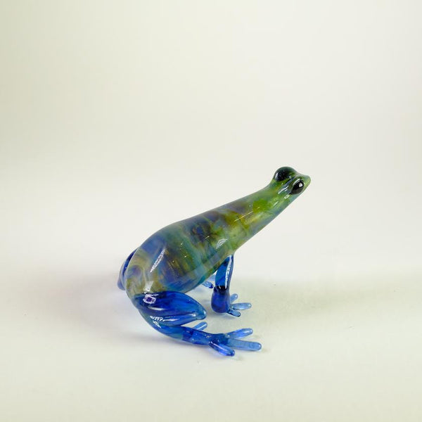 Handmade Glass Frog by Elizabeth Welch.