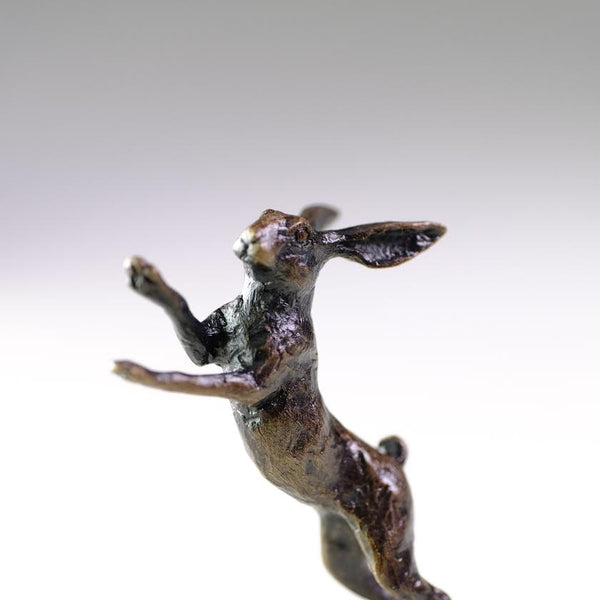 'Boxing Hare' Miniature Bronze.