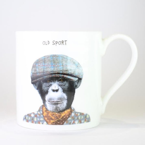Bone China 'Old Sport' Mug by Sally Scarffadi