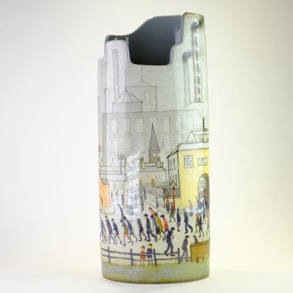 Lowry 'Coming from the Mill' Silhouette Design Vase.