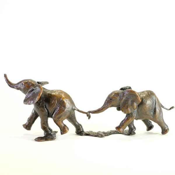 Bronze 'Follow my Leader Elephants' by Michael Simpson.