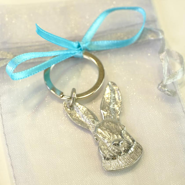 Pewter Hare Keyring.