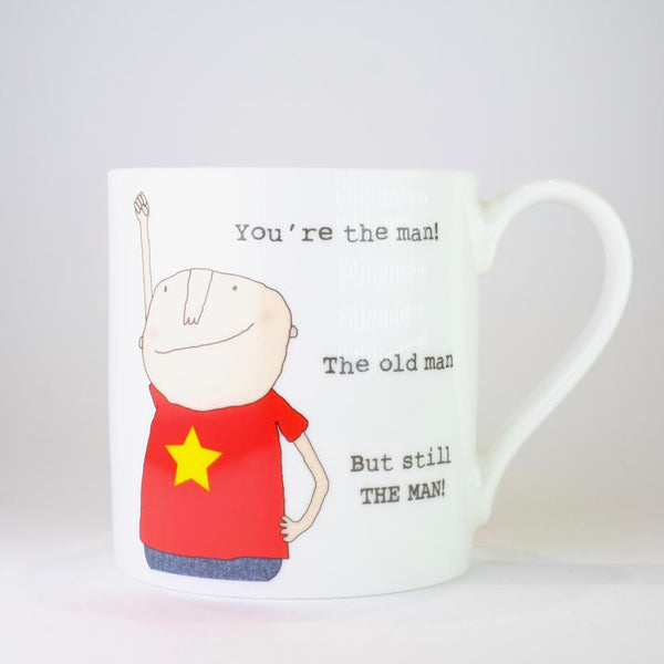 'You are the Man' by Rosie Made a Thing,Bone China Mug.