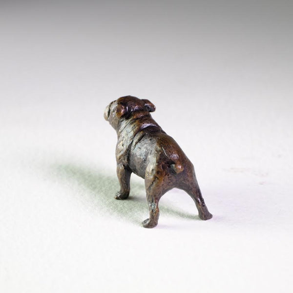 Bronze 'British Bulldog' Miniature Sculpture.