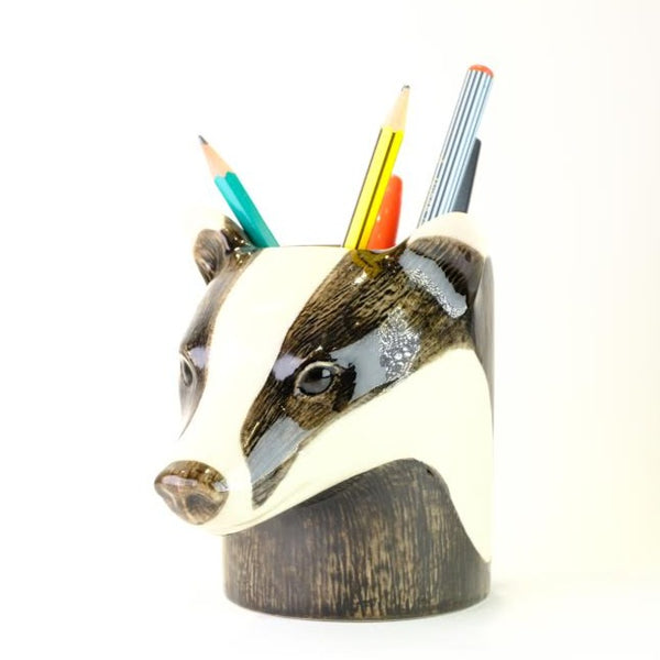 Ceramic 'Badger' Pencil Pot.