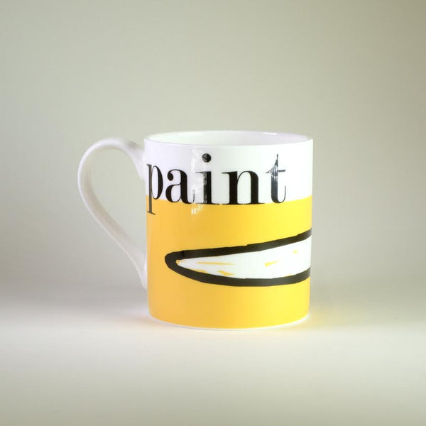 Graphic 'Paint' Bone China Mug.