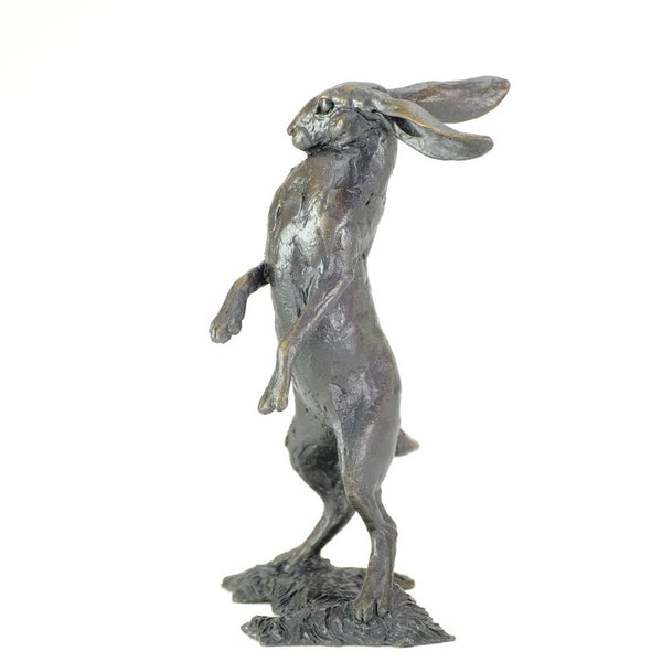 Bronze 'Small Standing Hare' by Michael Simpson