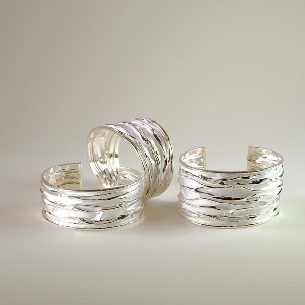 Sterling Silver Torque Bangle Bracelet by LBJ Designs.
