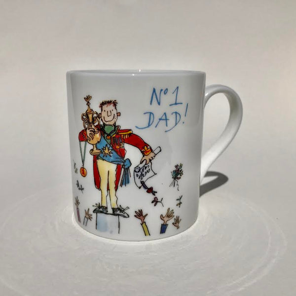'No. 1 Dad!' by Quentin Blake Bone China Mug.