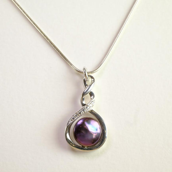 Silver and Fresh Water Pearl Pendant by 'JB Designs'.