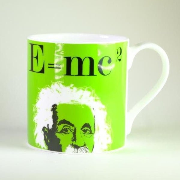 Graphic 'Einstein' Bone China Mug.