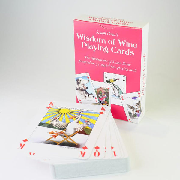 Simon Drew 'Wisdom of Wine' Playing Cards.