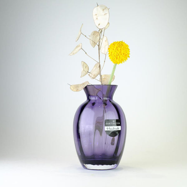 Dartington Little Treasures Amethyst Optic Vase.