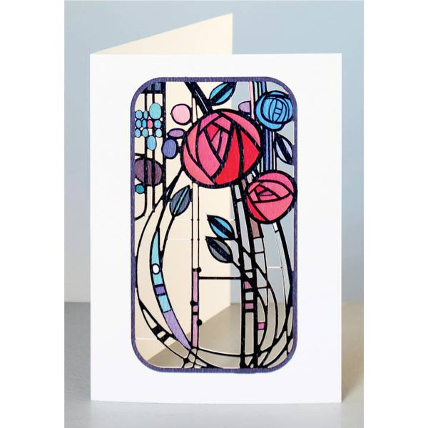 'Mackintosh Rose' Laser Cut Blank Card