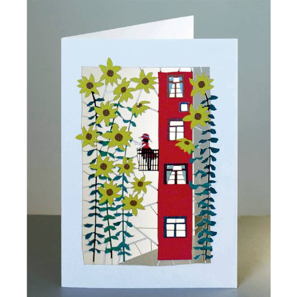 'Girl on Balcony' Laser Cut Blank Card