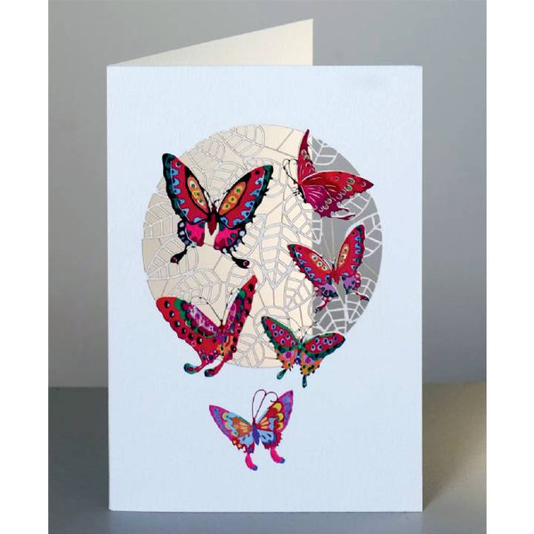 'Butterflies on Lace' Laser Cut Blank Card
