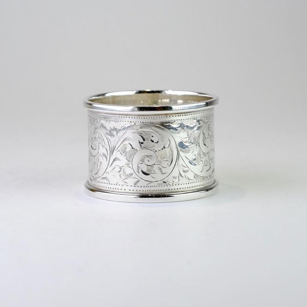Single Vintage Silver Napkin Ring, Hallmarked Birmingham 1946.