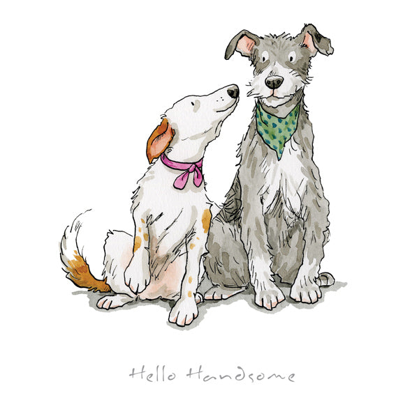 'Hello Handsome' From 'A Dog's Life' Framed Limited Edition Print by Anita Jeram.
