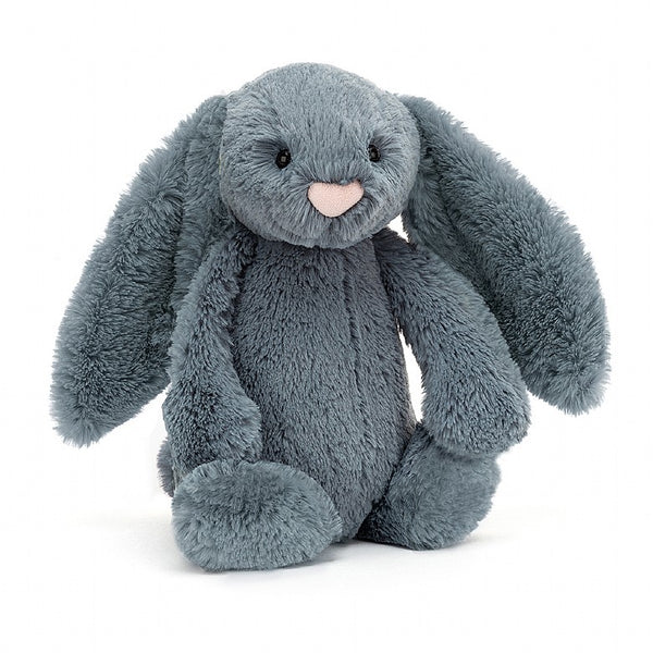 Jellycat Medium Bashful Dusky Blue Bunny.
