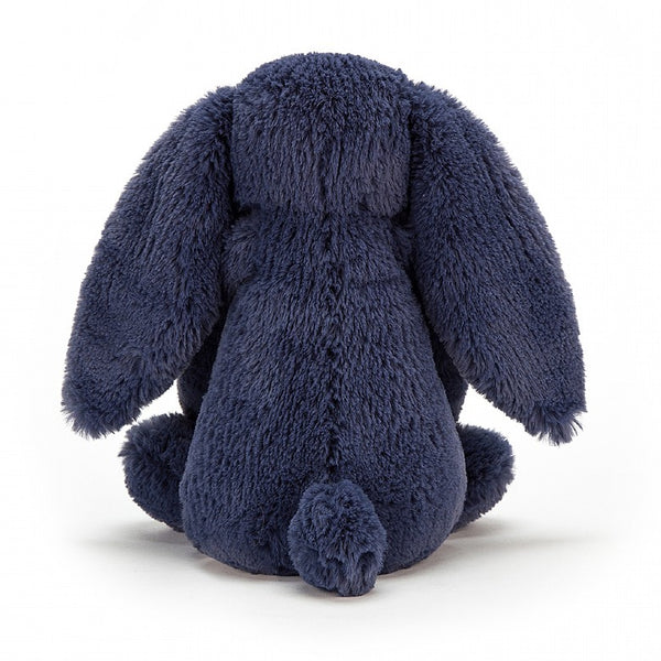 Small Jellycat Bashful Navy Bunny.