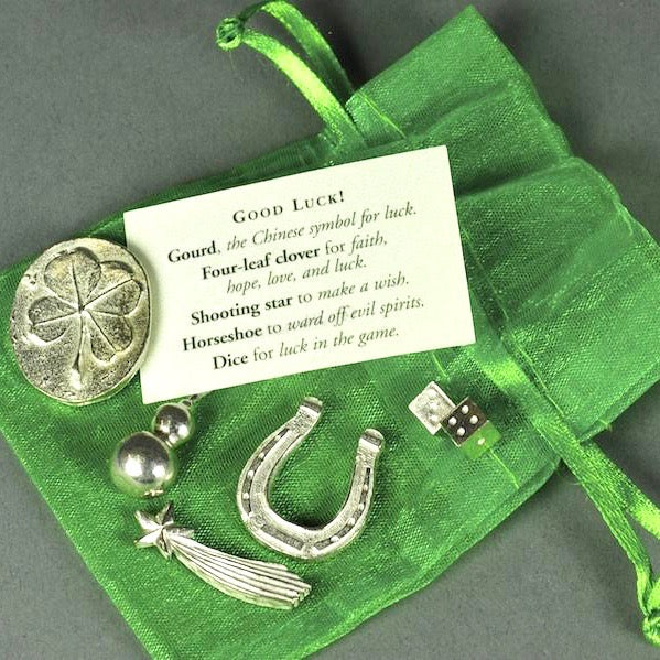 Bagged Pewter Tokens 'Good Luck'
